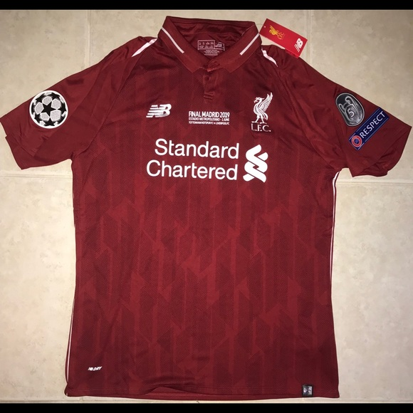 new concept 15091 cc9c7 Mo Salah Liverpool Champions League final jersey NWT